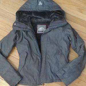 TNA winter coat dark grey.